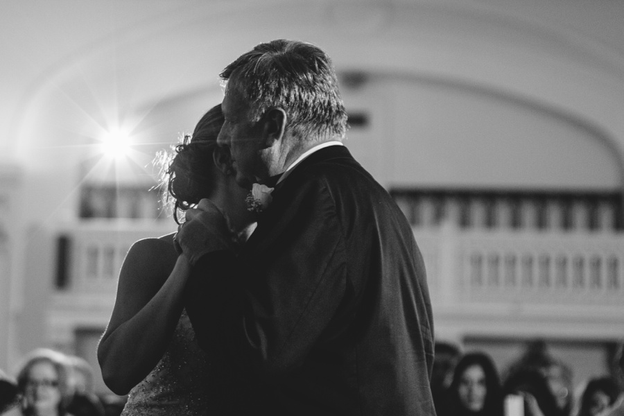 Bride and Father dancing wedding picture at Bourne Mansion  - New York Wedding Photographers