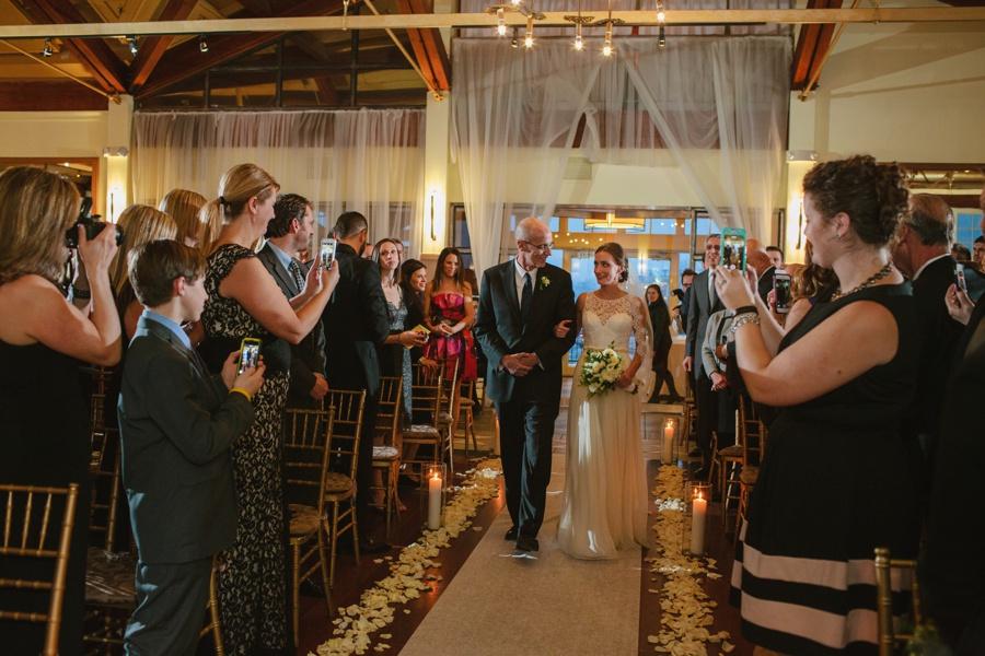 Bride Walking down the Aisle - Liberty House Wedding Photography