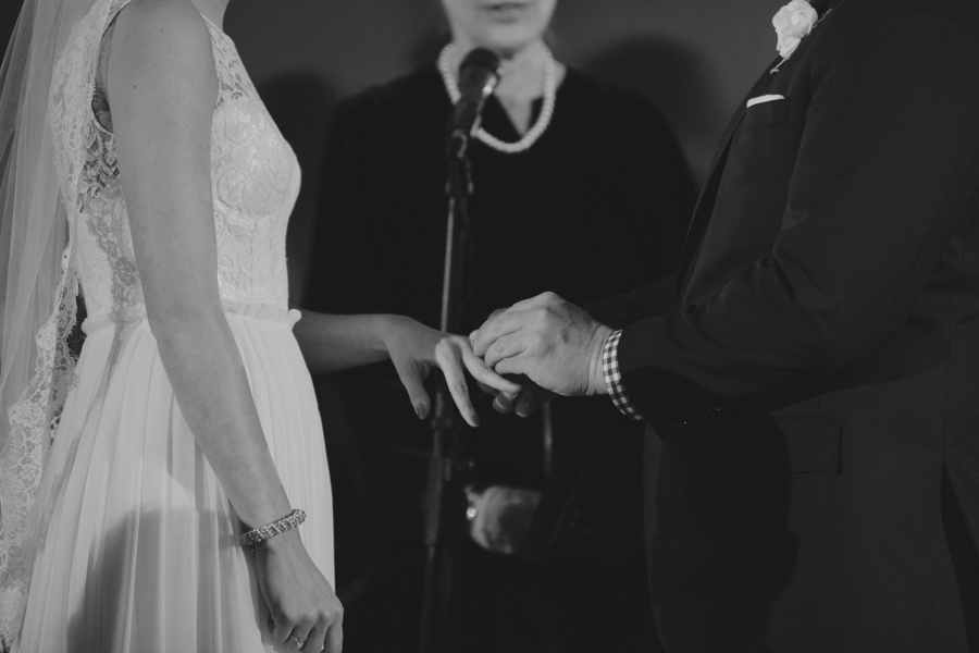 Exchanging rings during Wedding Ceremony - Liberty House Wedding Photography