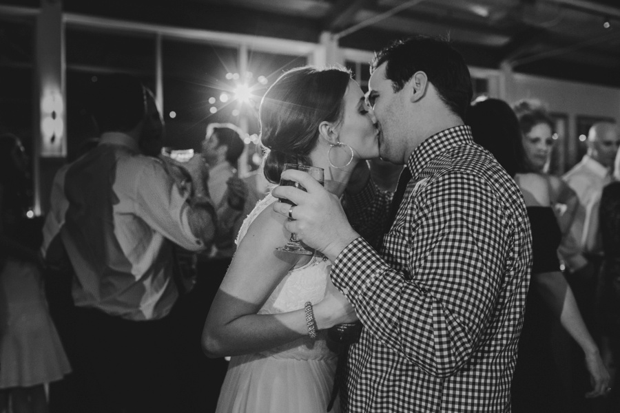 Bride and groom dancing and kidding at reception - Liberty House Wedding Photography