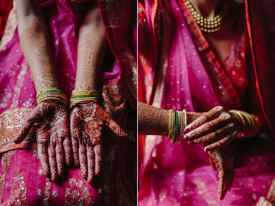 Indian Bride traditional hand painting