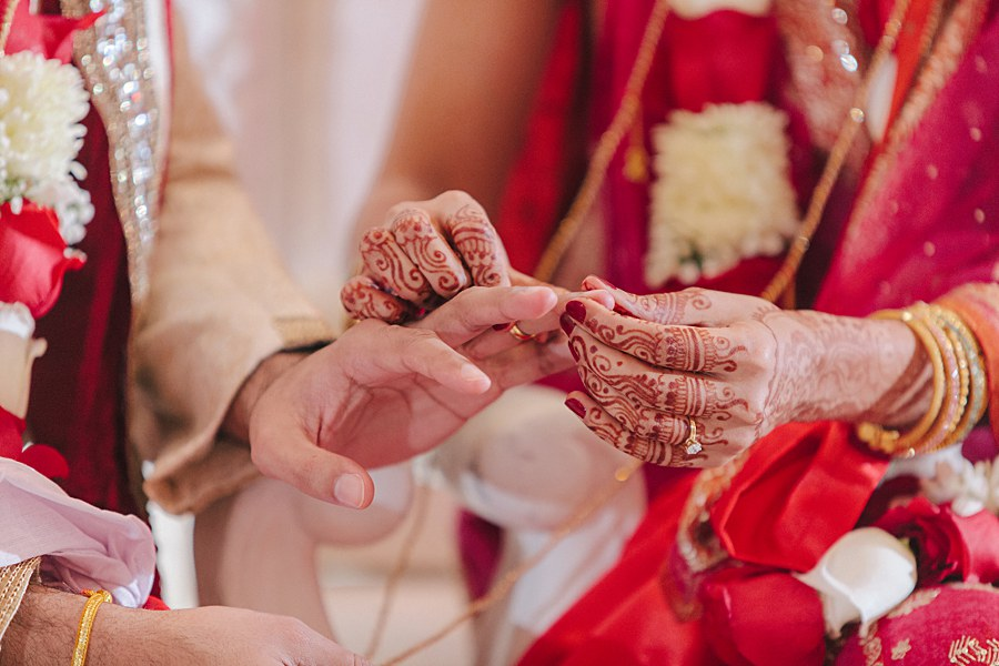 New Jersey Indian Wedding Ceremony ring exchange