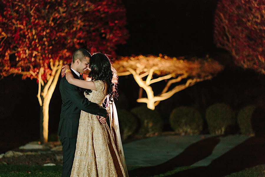 Night Wedding Photo during Indian Wedding in New Jersey