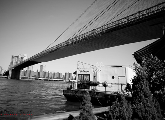 View of the Brooklyn Bridge from the River cafe