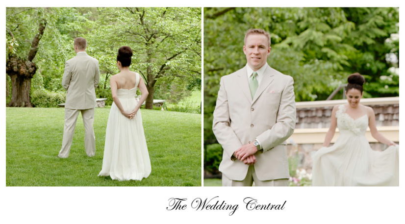What is a wedding photography first look?