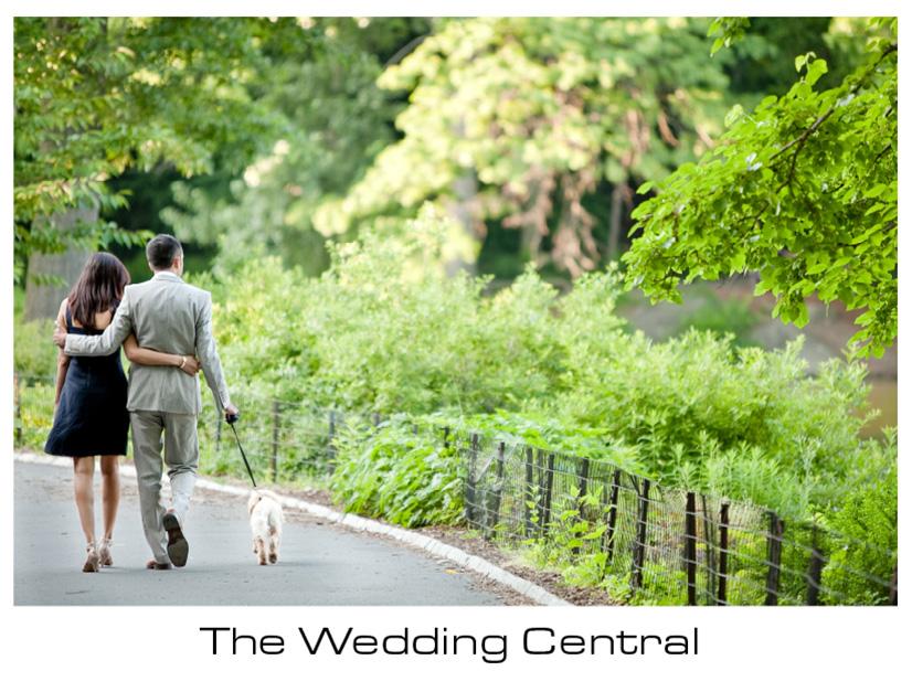 New York Engagement Photographer - bride and groom walking away