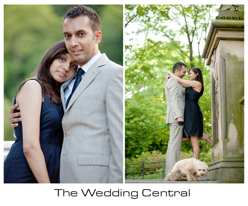 New York Engagement Photographer - bride and groom hugging