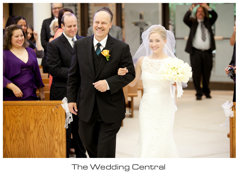 Bride and father of the bride walking down aisle NJ Westmount Country Club Wedding - Lindsay and Alex Levine Wedding Photos
