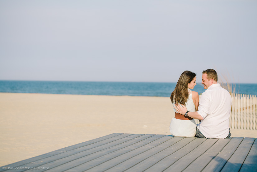 new jersey shore engagement photographer - john diana belmar beach engagement photos