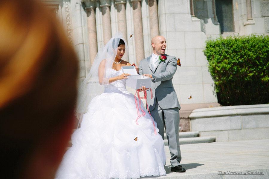 Butterflies at weddings - The Venetian Wedding Photos - Hiromi and Elvin NJ Wedding Photos