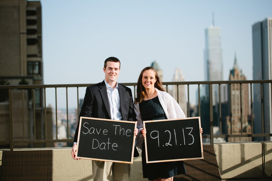 NYC Central Park Engagement Photos - Caroline Drew Save the date Engagement