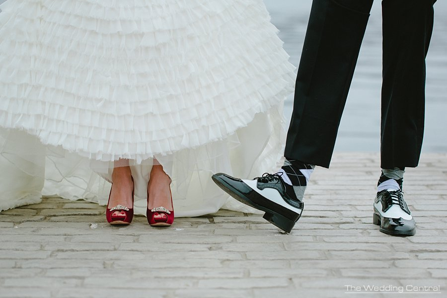 Red shoes - Retro black and white shoes - The-Villa-wedding-mountain-lakes-theresa-josh_0026.jpg