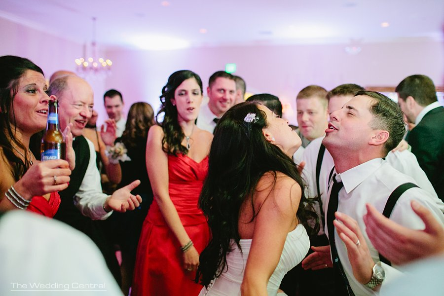 bride and groom dancing fun -  The Villa Wedding