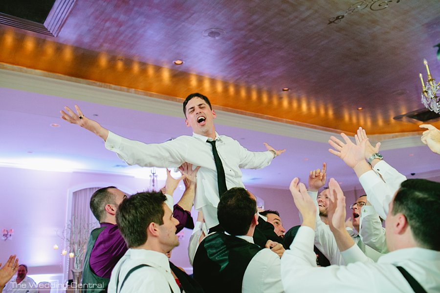 Groom carried - Fun Wedding Reception - The Villa Wedding - Mountain lakes NJ