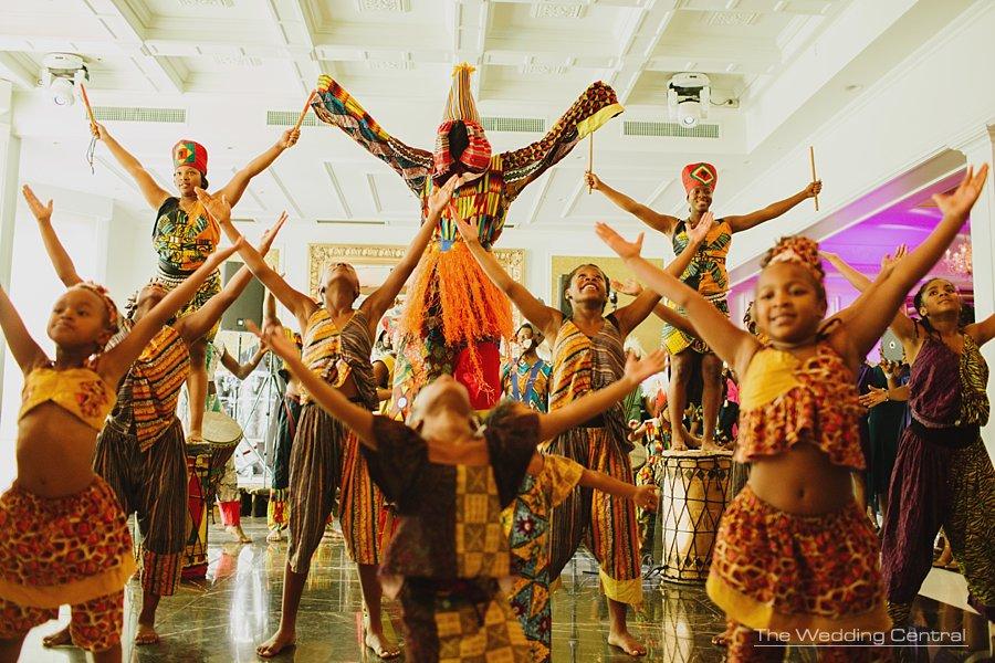 African dances wedding reception - New Jersey wedding photographer