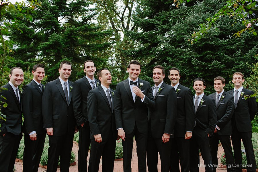 groomsmen elegant wedding tux - ny botanical gardens wedding photography