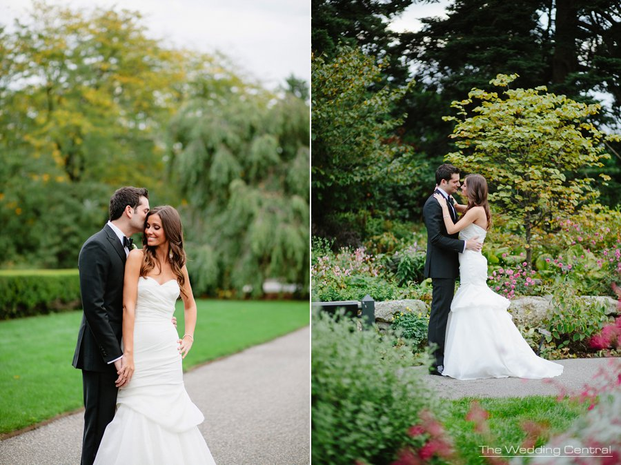 bride and groom wedding photo - bride and groom - bronx ny botanical gardens wedding