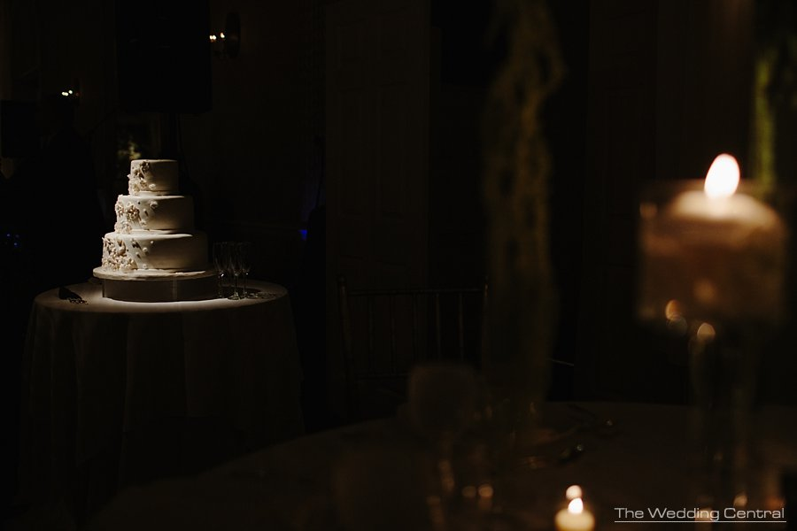 wedding cake - elegant Bronx Botanical Gardens wedding reception - NY Wedding photographer