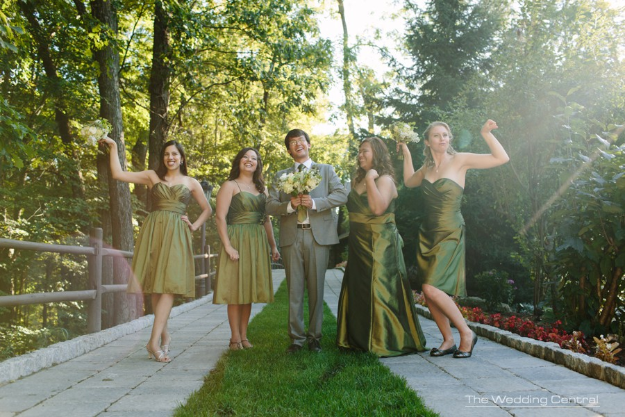 casual and funny bridesmaids wedding photos - pa wedding photographer