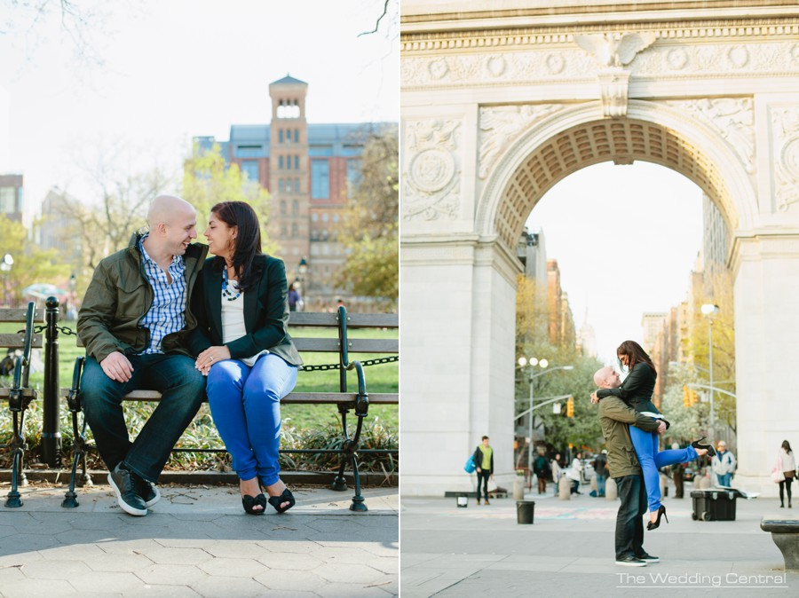candid new york wedding photographer - nyc engagement photos