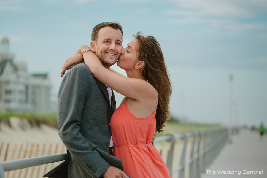 beach engagement photography at the jersey shore - beach engagement photos