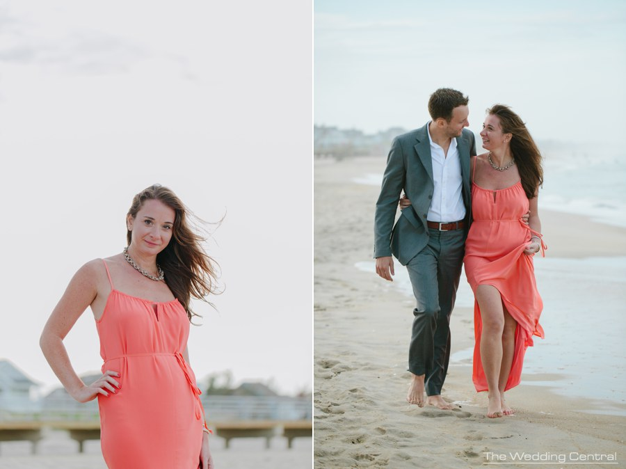 beach engagement photos - jersey shore engagement photography