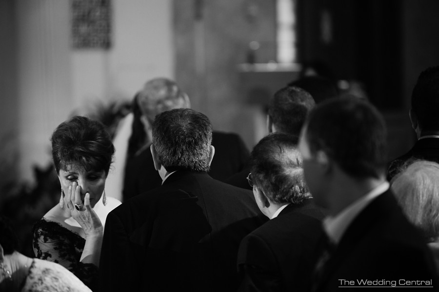 candid wedding photography - ceremony mother of the groom crying