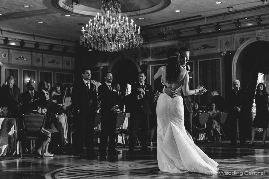candid wedding photography in new jersey - bride and groom first dance during reception