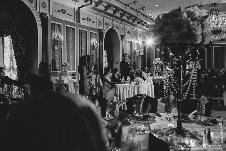 candid wedding photography in new jersey - toast during reception