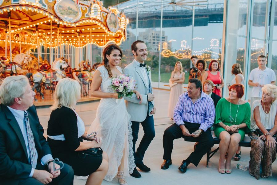 New York elopement. Brooklyn carousel wedding - Brooklyn Wedding Photography