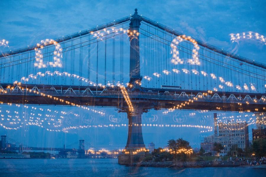 New York elopement. Brooklyn Jane's carousel wedding
