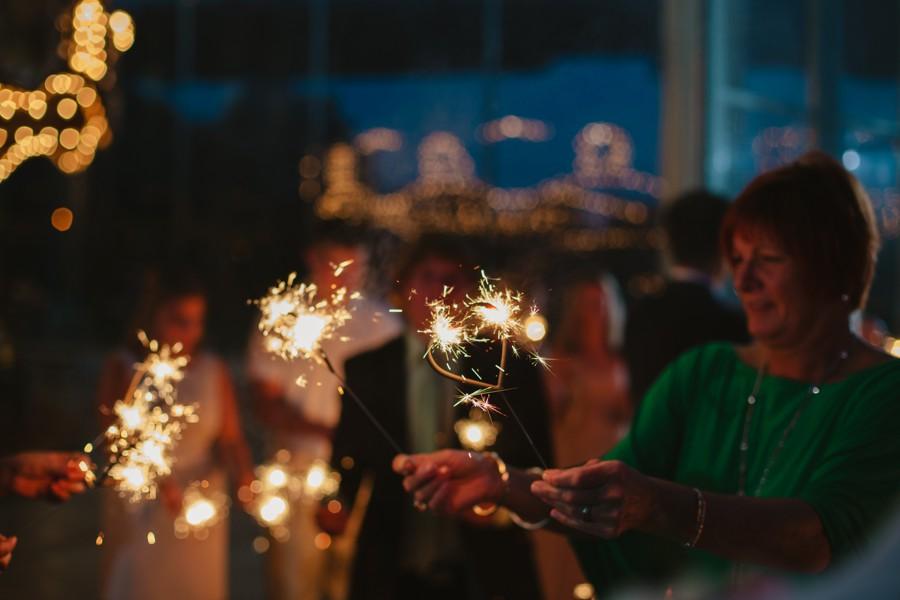 night Brooklyn wedding photos - sparkles Jane's carousel elopement wedding photos