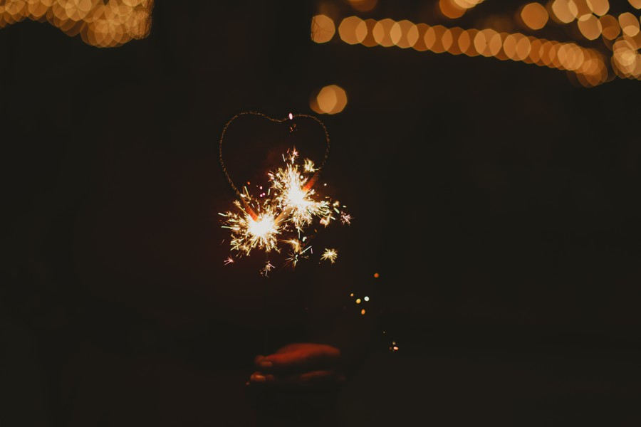 heat sparkles Brooklyn wedding photos - Jane's carousel elopement wedding photos