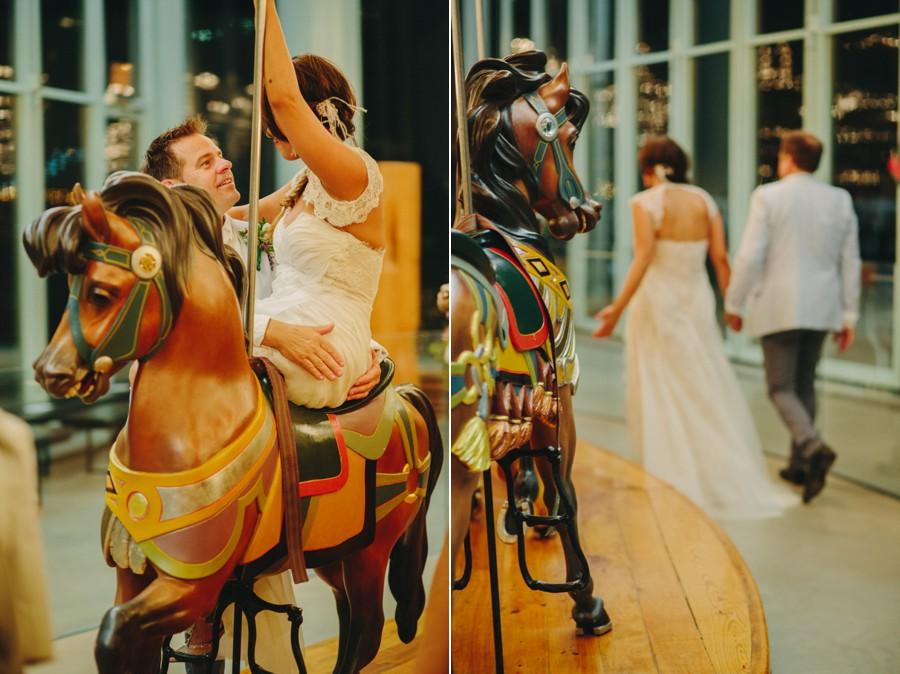 Brooklyn wedding photography - Jane's carousel elopement wedding photos