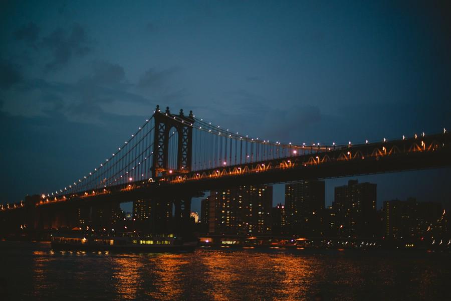 Brooklyn bridge wedding photography - Jane's carousel elopement wedding photos - brooklyn wedding photography