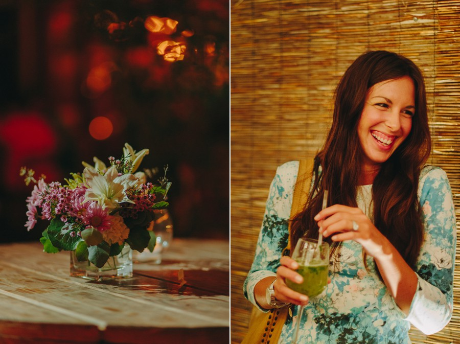 small centerpiece flowers brooklyn wedding photos - brooklyn elopement wedding photographer