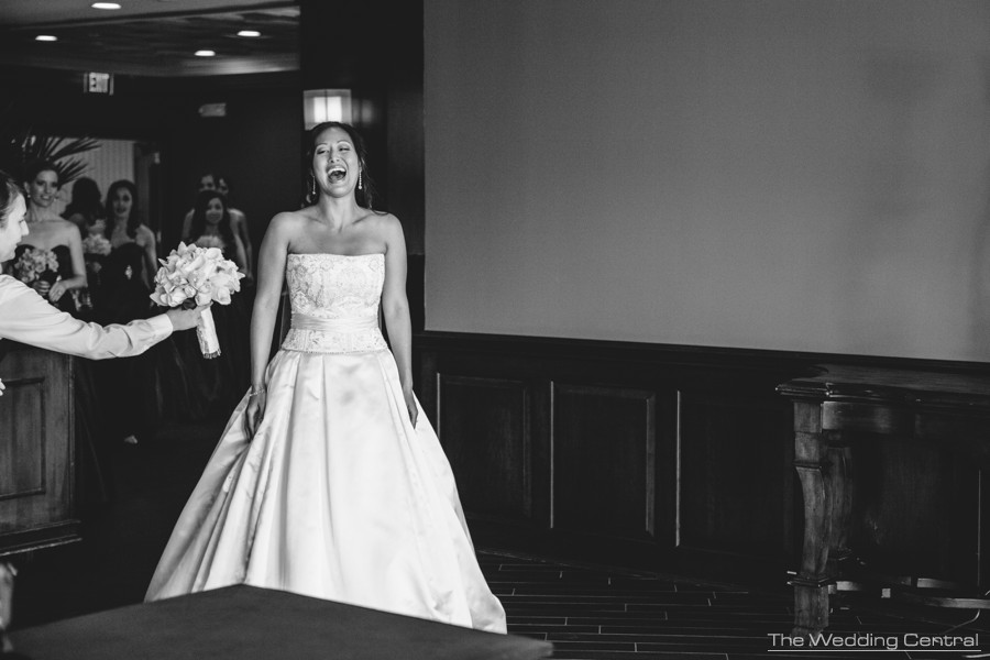 First Look black and white film noir - The Palace at Somerset Wedding Photos - Lynne and Adam Wedding Photos