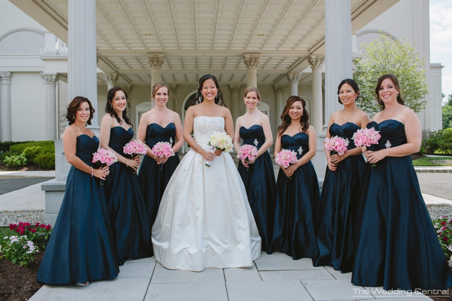 candid bridesmaids portrait from Lynne and Adam wedding photos at the Palace at Somerset in NJ