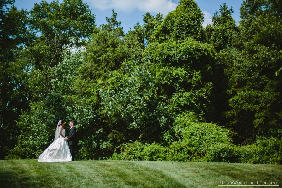 romantic bridal portrait from Lynne and Adam wedding photos at the Palace at Somerset in NJ