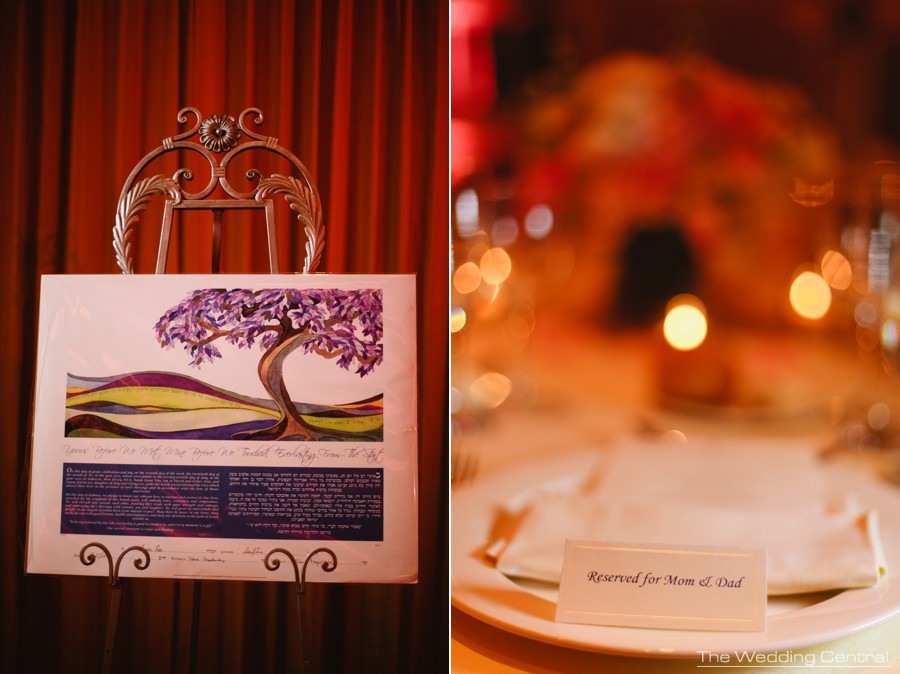 wedding details - ketubah jewish wedding at The Palace at Somerset Park wedding in New Jersey