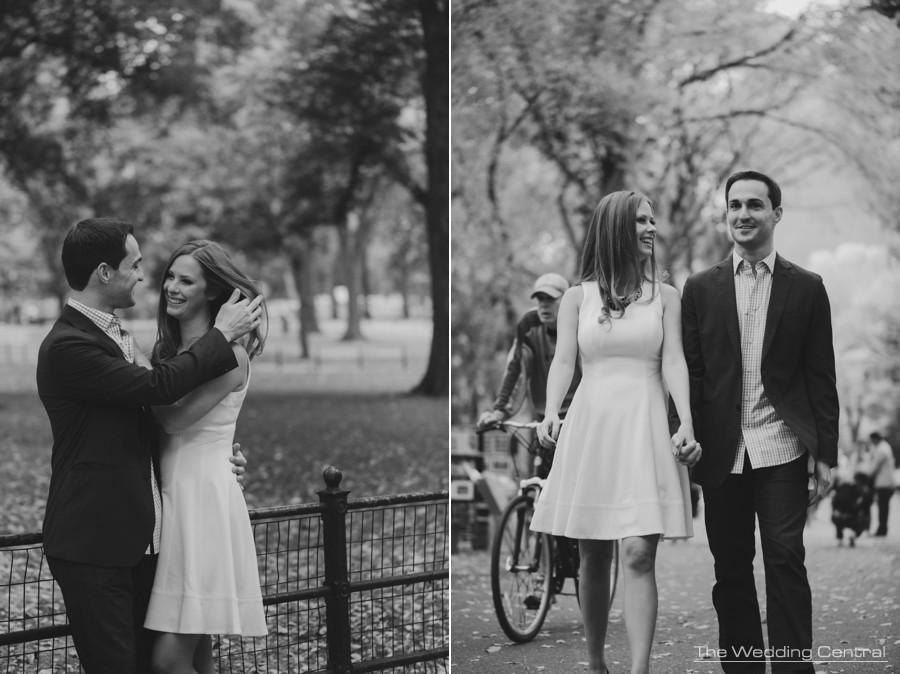 New york city engagement photographer - central park engagement photos