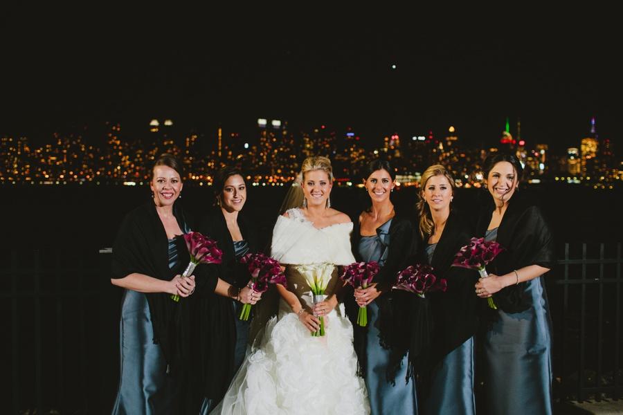 New Years wedding - Night wedding portraits