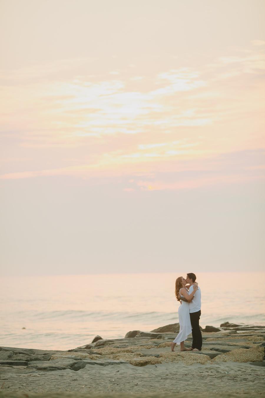 Jersey Shore wedding photography - Romantic beach photos
