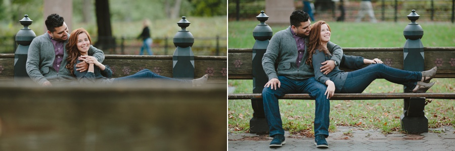 Central Park Engagement Photos - The Wedding Central
