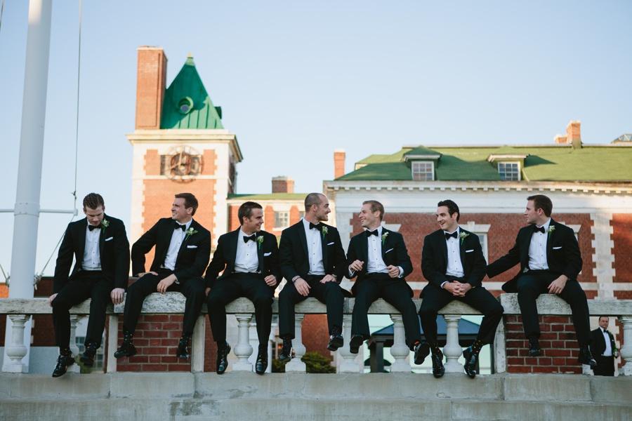 Candid Groomsman Portrait - Borne Mansion Wedding Photos - New York Wedding Photographer