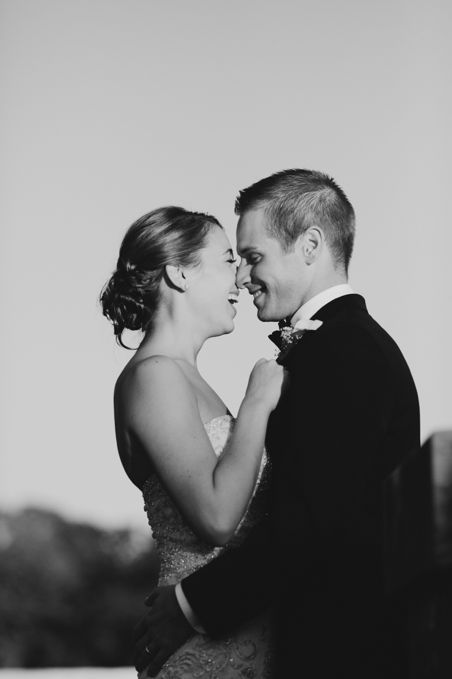 Candid Bride and Groom BW Wedding Picture at Borne Mansion - New York Wedding Photographer