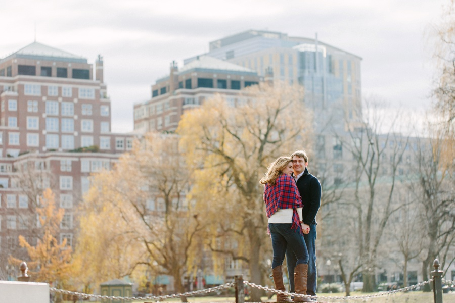 Romantic urban engagement photos in Boston - Boston engagement photography