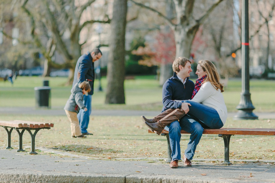 Romantic urban engagement photos in Boston