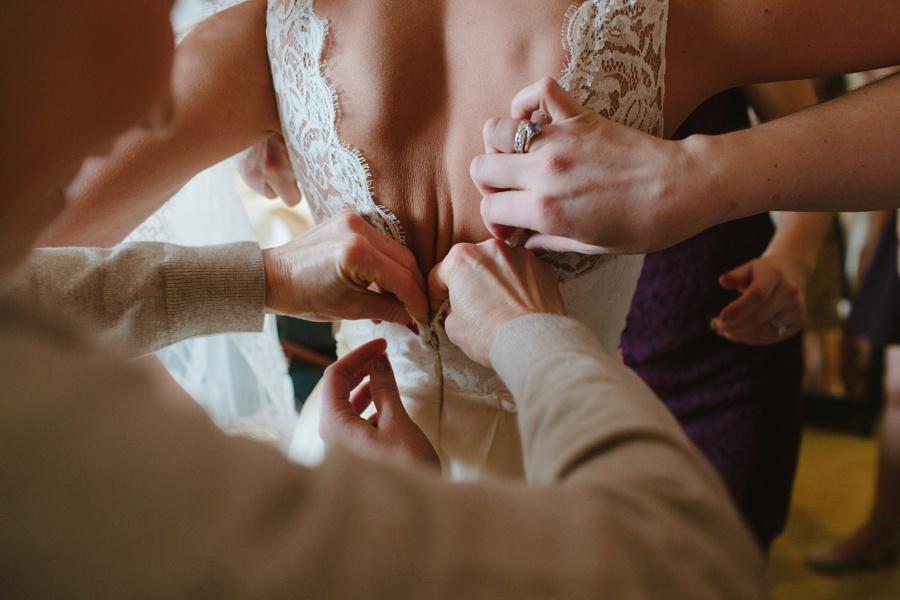 Bride getting ready - Photojournalistic wedding photography NJ