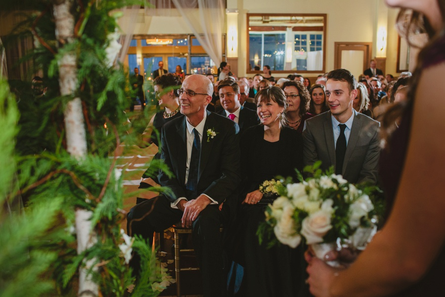 Parent laughing during Ceremony - Liberty House Wedding Photos